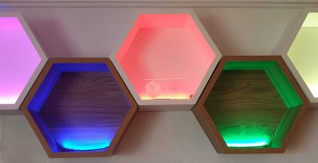 Bespoke WLED shelves with programmable colours