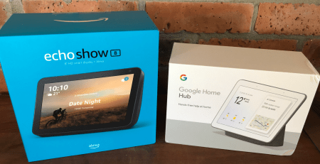 Amazon Alexa Show8 and Google Home Hub