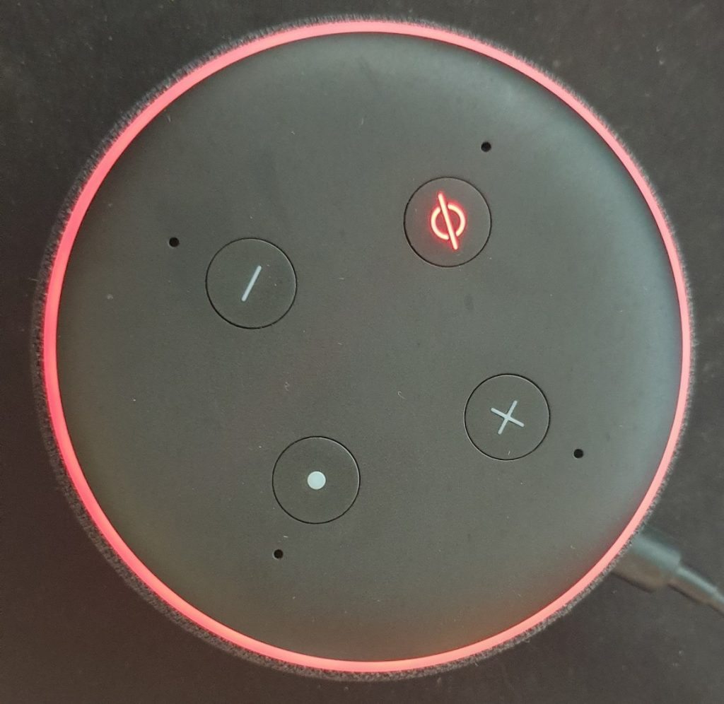 Echo Device Light Ring - coloured red