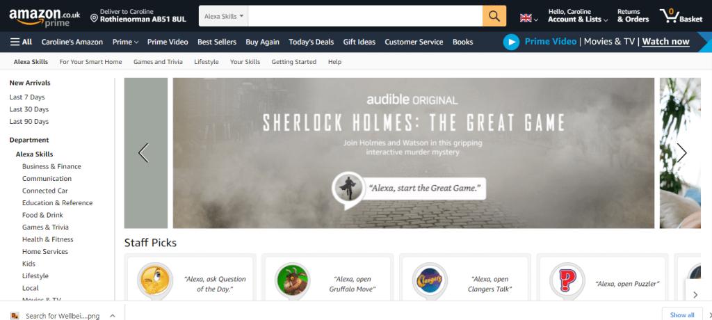 Amazon Alexa Skill Store