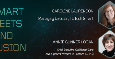 Smart Meets Kind Fusion. Caroline Laurenson, Managing Director, TL Tech. Annie Gunner Logan, Chief Executive, Coalition of Care and support Providers in Scotland (CCPS)